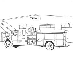 Coloring Page Firetruck Transportation 68