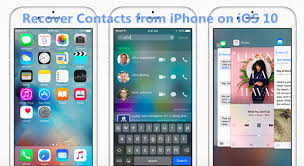 4 Methods to Recover iPhone Lost Contacts after iOS 10 10 3 Update