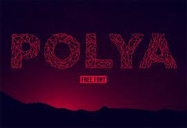Polya Free Line Font