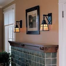 nashota one light sconce lights an arts crafts style fireplace