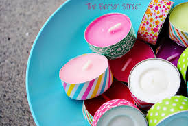 DIY Washi Tea Lights The Benson Street