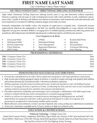 Directional Drilling Supervisor Resume Sample Template