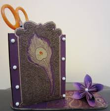 I Made This Purple Pen Holder With A Useless Carton As Its Base The Decorative Beautiful Paper Is From An Old Wedding Card Of My Relative