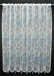 scheibengardine kringel 180 cm hoch breite der gardine durch gekaufte menge in 11 cm schritten wählbar anfertigung nach maß weiß mit