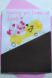 Foot Craft Friday: Dump Truck Valentine Carrying Love | Tanglewood ...