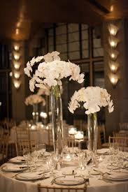 The Gorgeous white orchid centerpieces