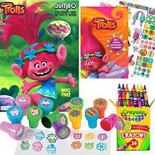 Dreamworks Trolls Coloring And Stamper Activity Book Set