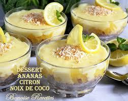 dessert ananas noix de coco dessert aux ananas facile et delicieux