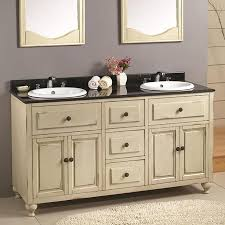 Drop In Bathroom Sink With Granite Countertop by Shop Ove Decors Kensington Antique White Drop In Double Sink