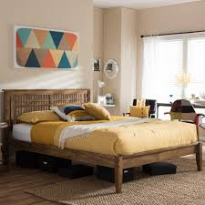 Wood Platform Bed Frame Queen by Baxton Studio Bentley Queen Wood Platform Bed 28862 6925 Hd The
