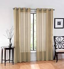 amazon com hlc me 2 piece sheer window curtain grommet panels
