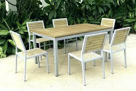 Metal Patio Table And Chairs Wooden Garden Set Creative Outdoor Furniture Restaurant
