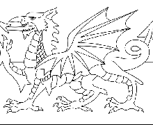 Welsh Flag Colouring Page 20 Wales Coloring