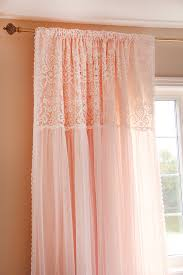 Pink And Purple Ruffle Curtains by Peach Ruffled Ruched Luxury Embroidery Lace Shabby By Lovelydecor