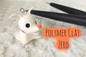 Nightmare Before Christmas Zero Halloween Decorations by Polymer Clay Zero Nightmare Before Christmas Tutorial Youtube