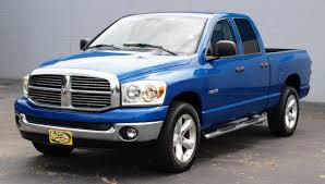 100 Blue Dodge Truck 2008 Ram 1500 Quad M91319AT Auto Connection