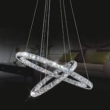 pendelle led 2 ring oval kristall pendelleuchte modern