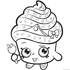 Full Size Of Cupcake Color Pages Print Amazing For Kids Shopkins Season 5 Coloring Page