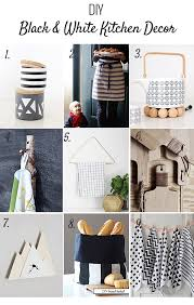 DIY Black And White Kitchen Projects You Maybe I Might Want To Try This Weekend Most Of Them Are Really Simple Too Can Be Made In One
