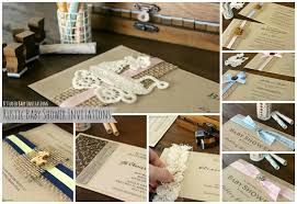Rustic Baby Shower Invitations By B Studio
