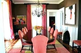 Dining Room Curtains Red Outstanding Brown And For Walls