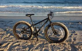 Riding A Fat Bike On The Beach