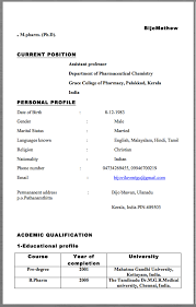 Assistant Professor Resume Example BijoMathew Mpharm PhD CURRENT POSITION Department Of Pharmaceutical