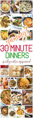 Yummy 30 Minute Family Dinners Recipes