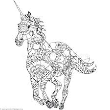 Unicorn Coloring Page Pages Hard