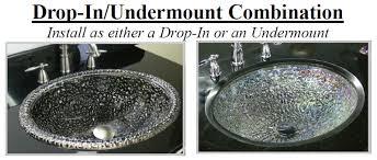 jsg oceana glass bathroom sinks pebble undermount or drop in