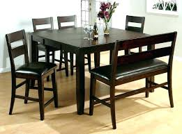 Dining Room Table Bench Size Classy With Storage Wonderful Back High To Build Set
