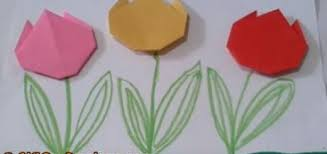 Art Crafts Origami Tulip Flowers Simple And Easy Paper For Kids Everbody