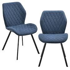 2x stühle in verschiedenen farben gepolstert mit textilbezug esszimmer stuhl polsterstuhl lounge set blau en casa