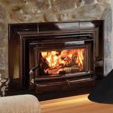 Wood burning fireplace insert Fireplace Pinterest