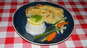 cuisiner la roussette roussette saumonette gratinée à la crème citronnée cuisine