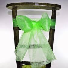 ruban pour noeud de chaise ruban pour noeud de chaise couleur vert matériel d floral et