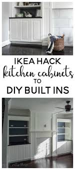 IKEA Hack Kitchen Cabinets Turned Built Ins