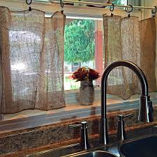 Amazing Of Primitive Burlap Curtains Decor With Best 25 Kitchen Ideas On Home