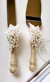 Rustic Wedding Cake Server Set Knife Cutting Servers Pearl Ivory Of 2