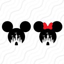Disney Castle Pumpkin Carving Patterns by Disney Castle Svg Mickey Mouse Minnie Mouse Svg Cut Table