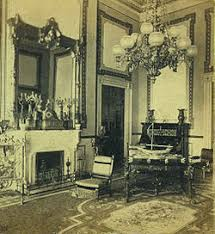 A Stereograph View Of The Red Room Looking Northwest During Administration Ulysses S Grant Center Table And Ladies Chairs One Near