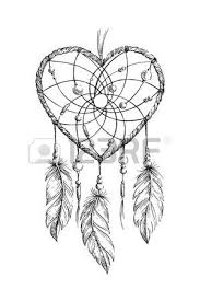 Sacred Heart Hand Drawn Ethnic Dreamcatcher Coloring Page For Adults Vector Illustration