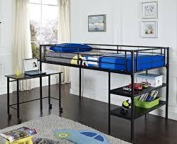 futon loft bed with desk design of metal loft bed with desk