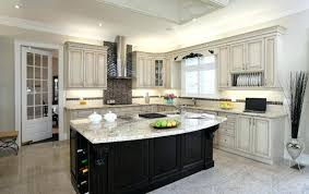 Black Cabinets With White Countertops Large Kitchen With Black