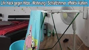 schlafzimmer wohnung runter kühlen mit selbst gemachter klimaanlage tipps gegen die hitze