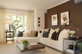 Brown Accent Wall Ideas Family Room Modern With