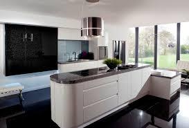 Modern White Kitchen Black Floor