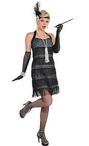 Adult Black Lace Flapper Costume
