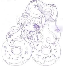 Return Of Donut Girl By YamPuff On DeviantArt Colouring In PagesColoring