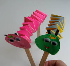 Cardmaking Ideas Spring Caterpillar Tinker Colored Paper